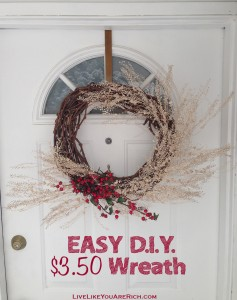 Easy D.I.Y. $3.50 Wreath