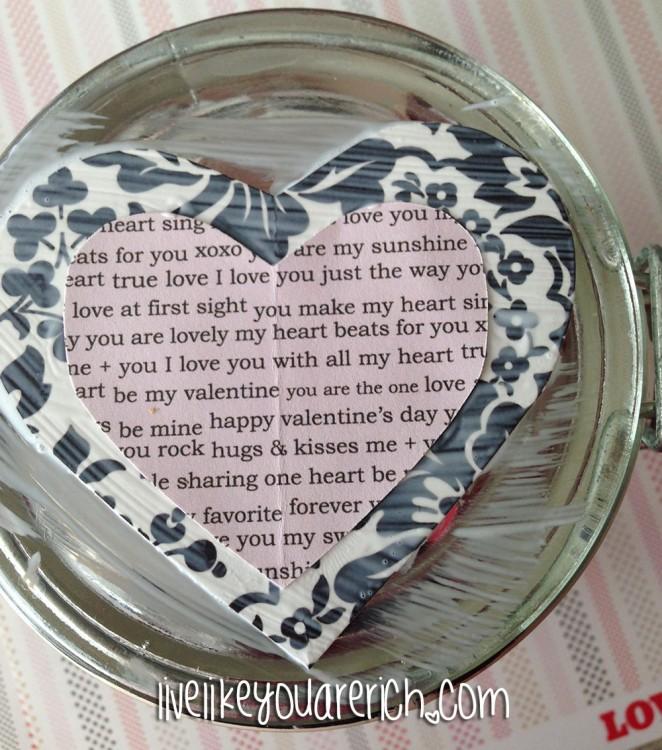 Words of Affirmation Valentine's Jars