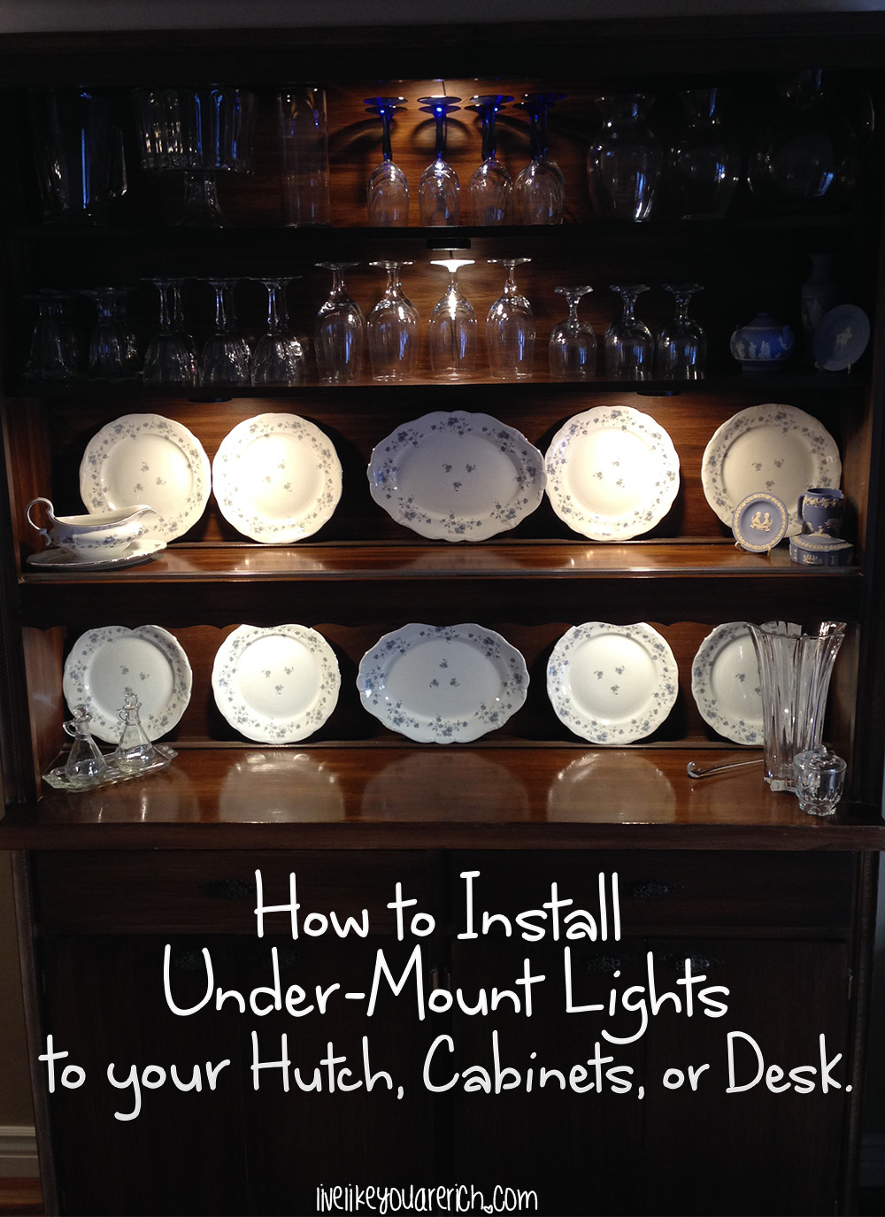 How to Install Under-Mount Lights on Your Hutch, Cabinets, & Desk.
