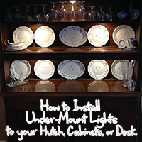 How to Install Under-Mount Lights on Your Hutch, Cabinets, Desk, etc.