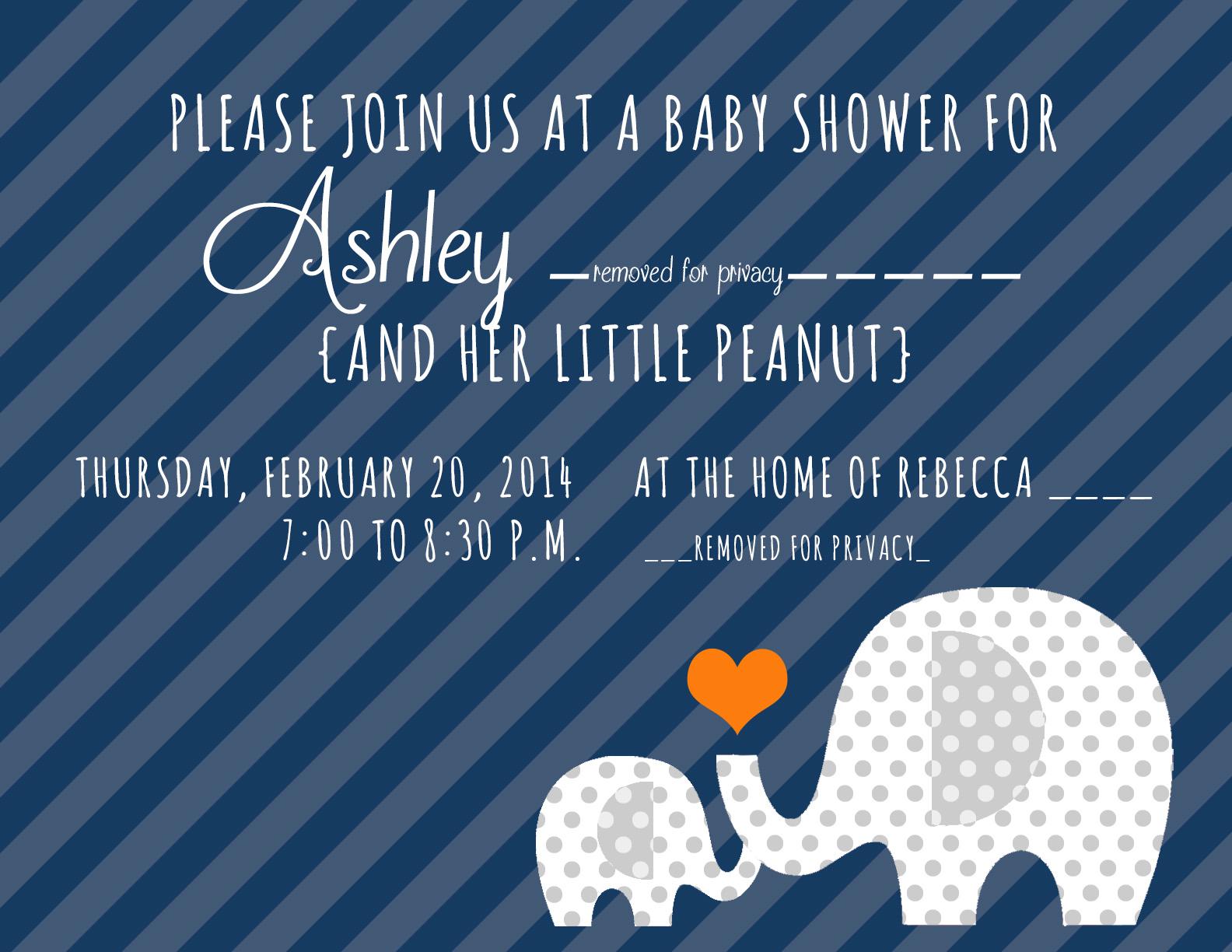 Little Peanut Elephant Baby Shower