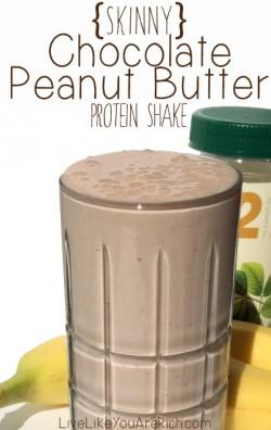 Skinny Chocolate Peanut Butter Protein Shake