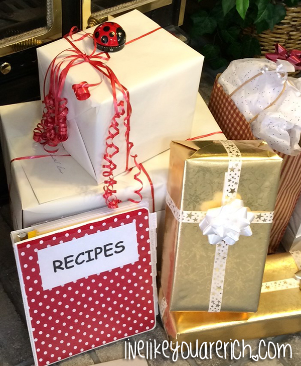 Presents at a Kitchen Themed Bridal Shower
