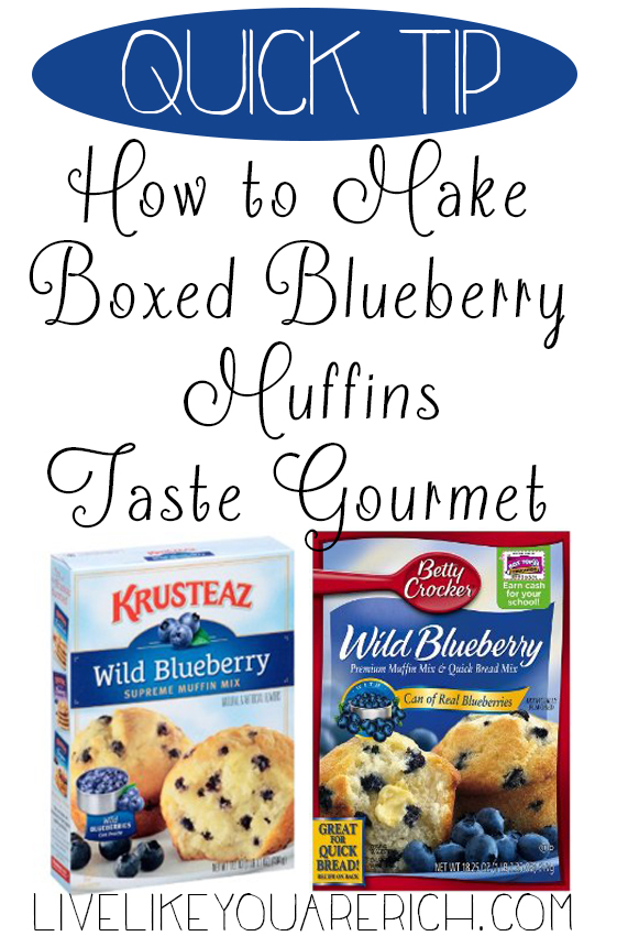 How to Make Boxed Blueberry Muffins Taste Gourmet