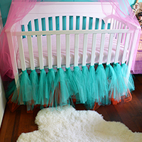 How to Make a Ballerina Tulle Crib Skirt
