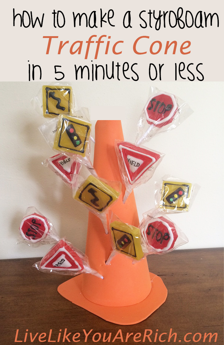 How to Make a Styrofoam Traffic Cone
