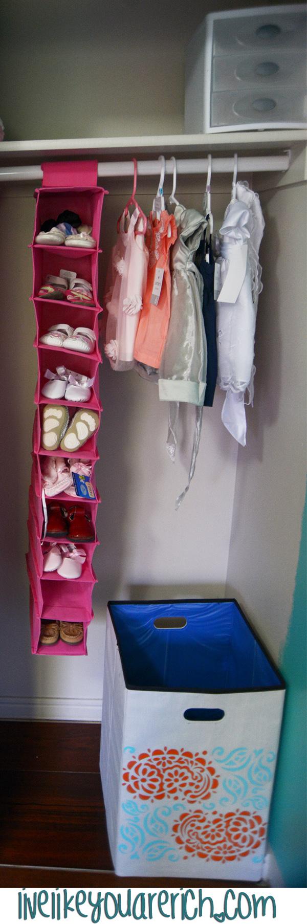 Nursery Closet Organization and Decor