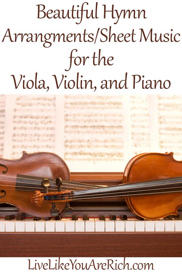Viola, Violin, Piano Hymn Sheet Music