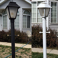 How to Paint a Lamp Post