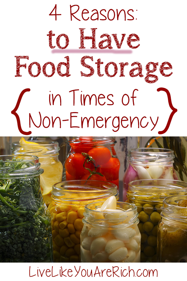 4 Reasons to Have Food Storage in Times of Non-Emergency