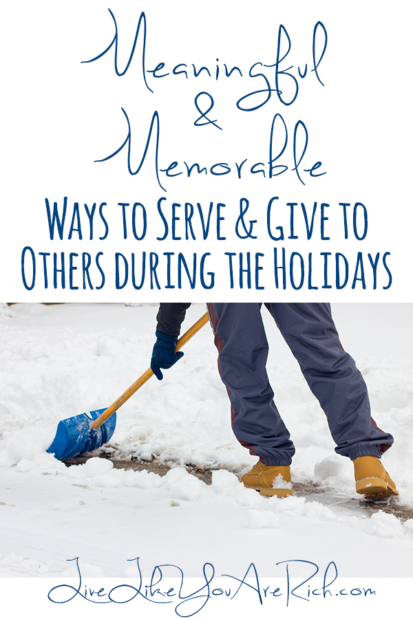 Ways to Give and Serve during the Holidays