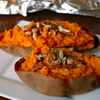 Clean-Eating Twice Baked Sweet Potato Recipe