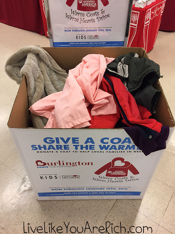 Save and give at Burlington