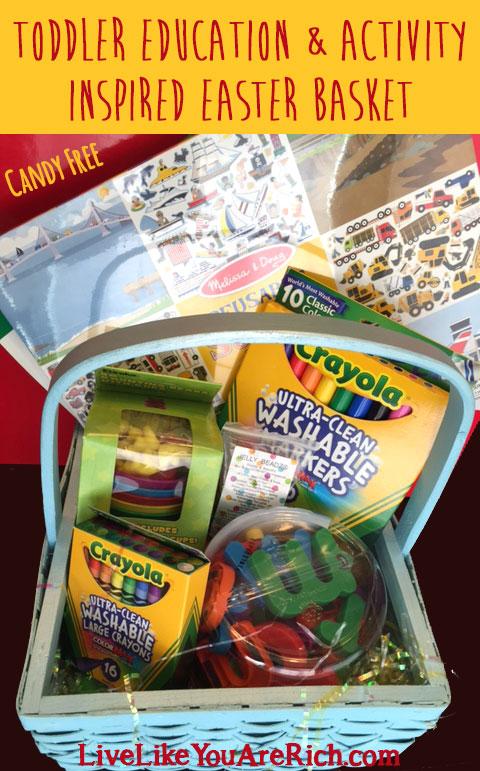 Toddler Education & Activity Inspired Easter Basket