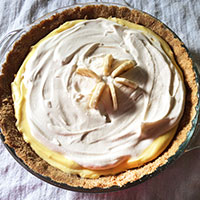 No Bake Homemade Banana Cream Pie