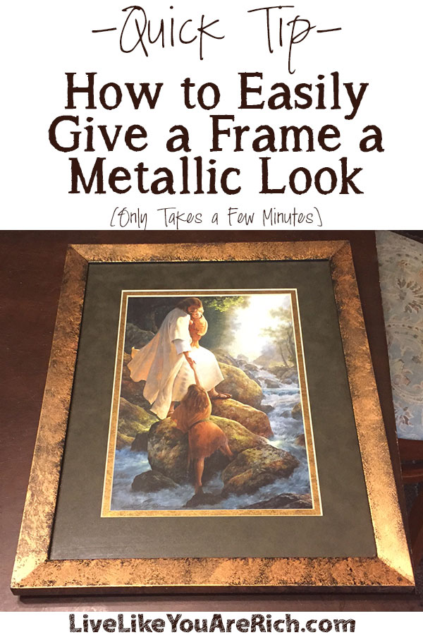 How to Give a Frame a Metallic Look