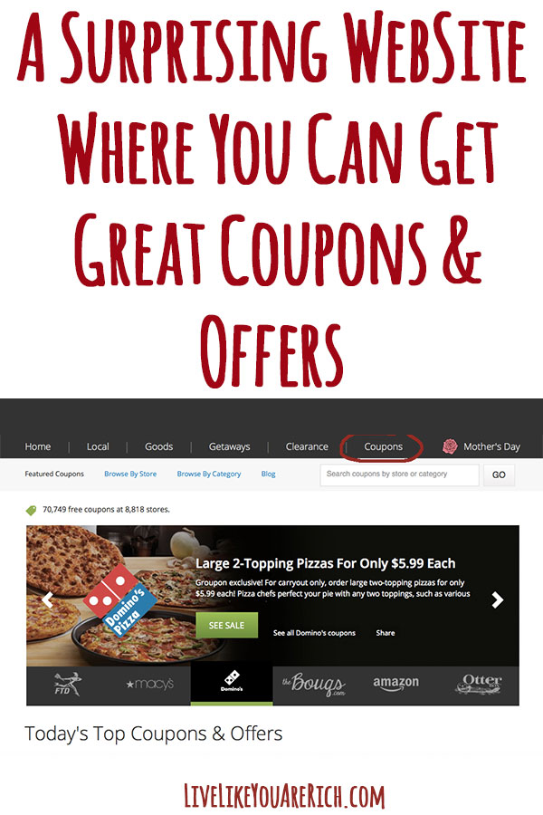 A Surprising Website Where You Can Get Great Coupons and Offers