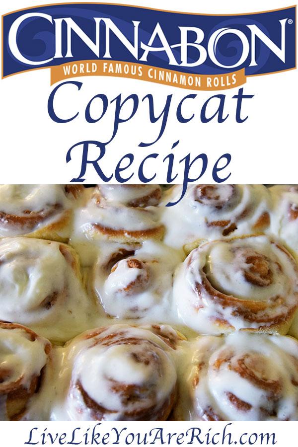 Cinnabon Copycat Recipe