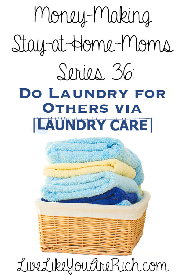 How to make money from home doing laundry for others