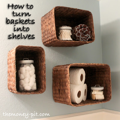 Turning Baskets into Shelves