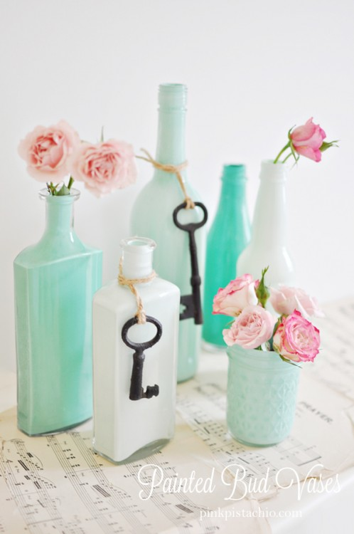 mint-painted-bud-vases