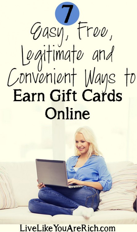 7 Easy, Free, Legitimate and Convenient Ways to Earn Gift Cards Online