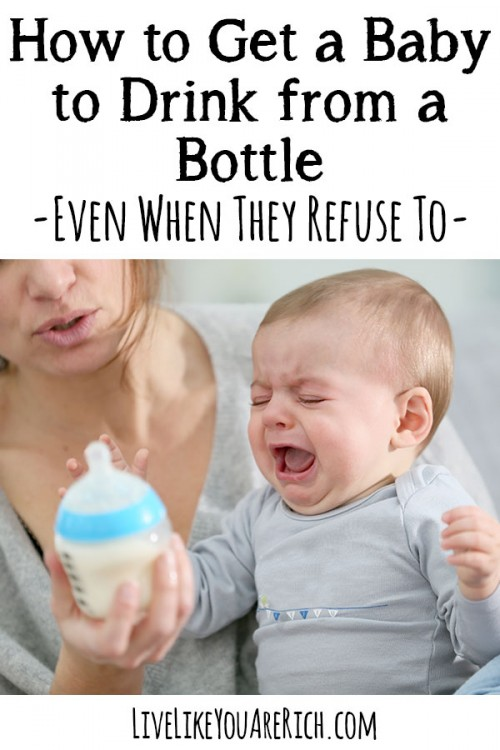 How to Get a Baby to Drink from a Bottle When They Refuse To