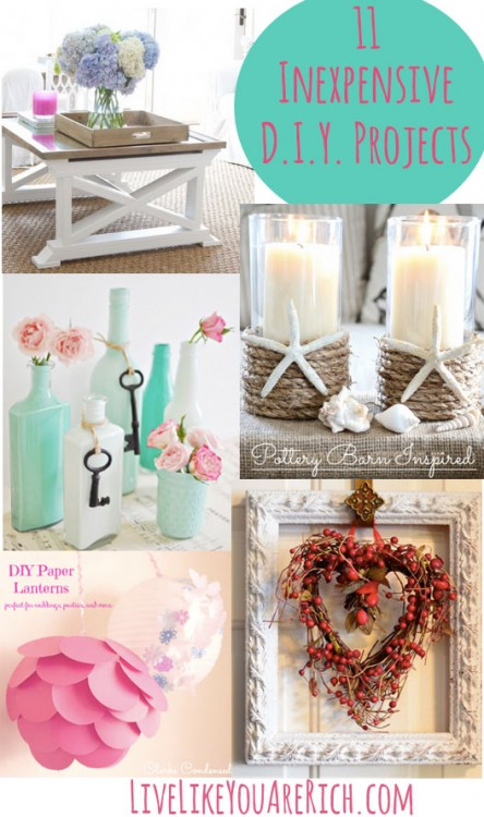 11 Inexpensive DIY Projects