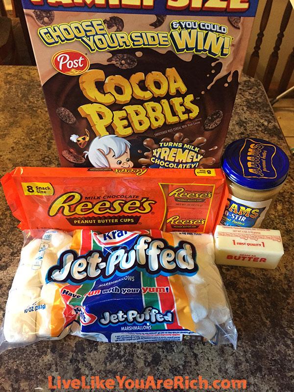 Reese's Peanut Butter Rice Krispie Treats