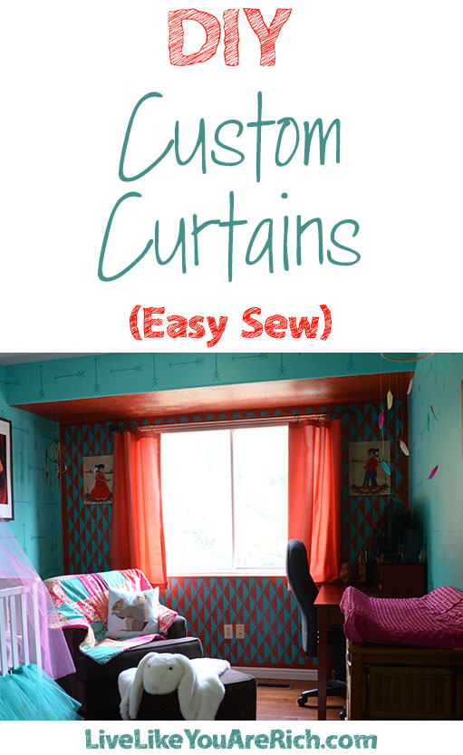 DIY Custom Curtains (Easy Sew)
