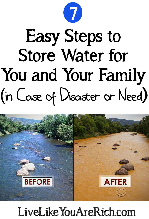 How To Store Water in Case of Disaster or Need