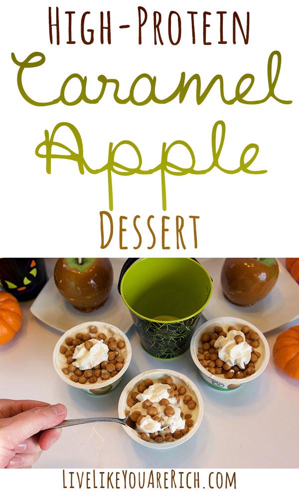 High Protein Dessert: Caramel Apple Parfait