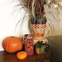 Fall Themed Mason Jars