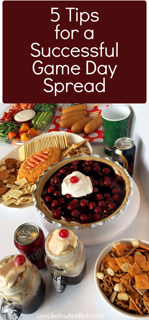 5 Tips for a Successful Game Day Spread