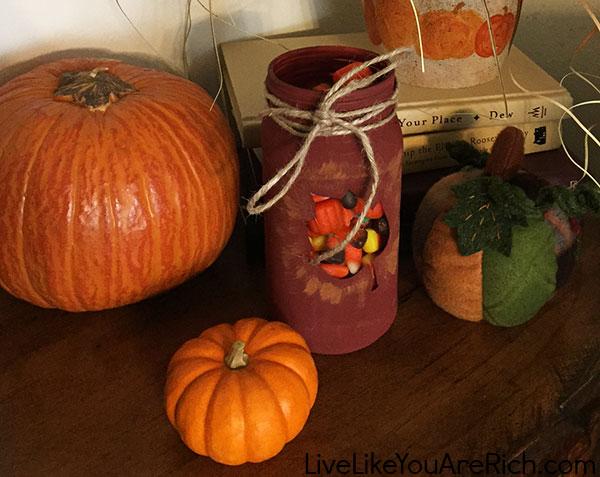 Fall Themed Mason Jars