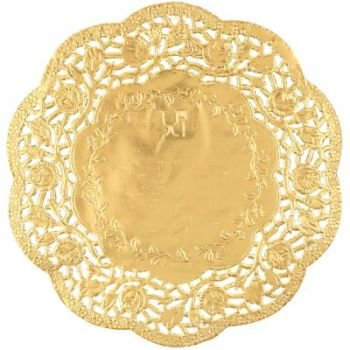 gold doilies