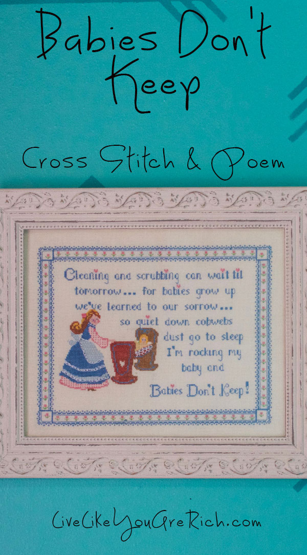 Babies Don't Keep Cross Stitch