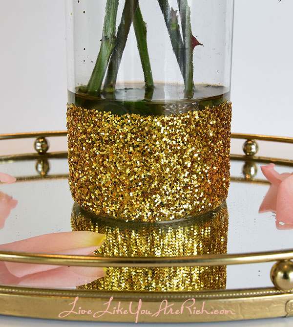 How to Make Glitter Vases
