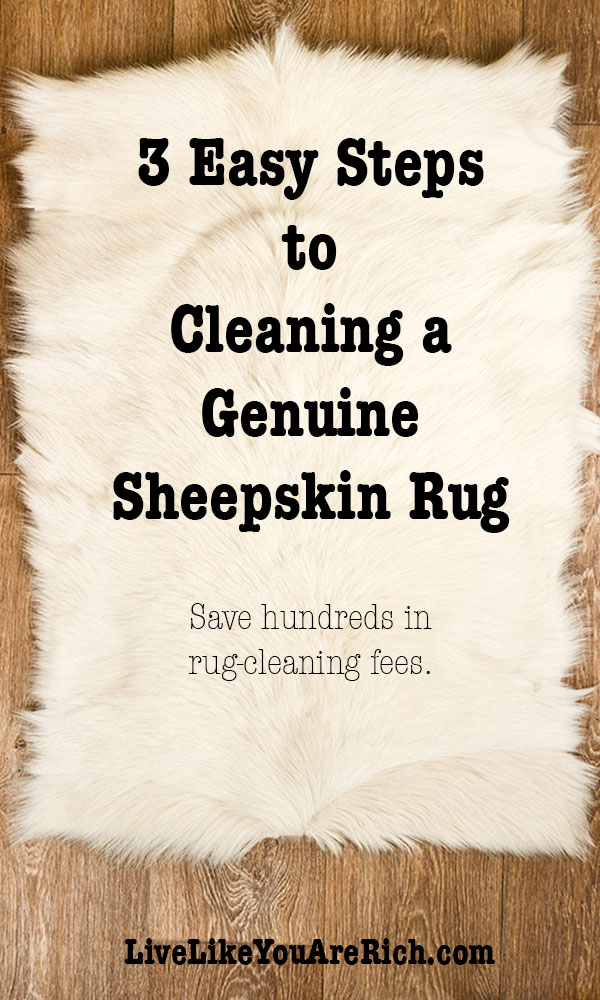 3 Easy Steps to Cleaning a Genuine Sheepskin Rug