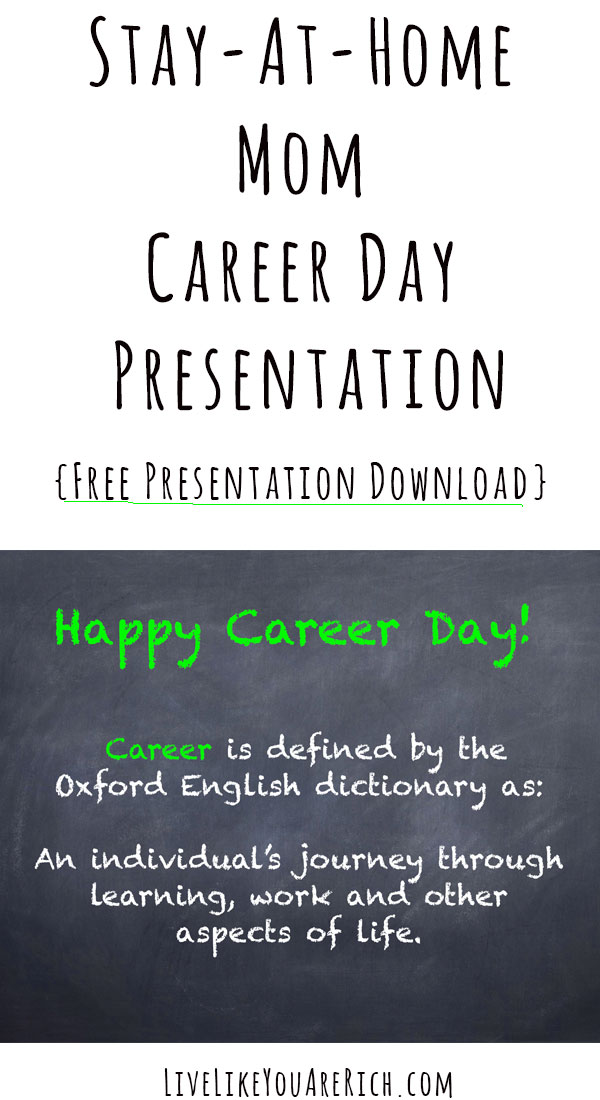 Stay-at-Home Mom Career Day Presentation
