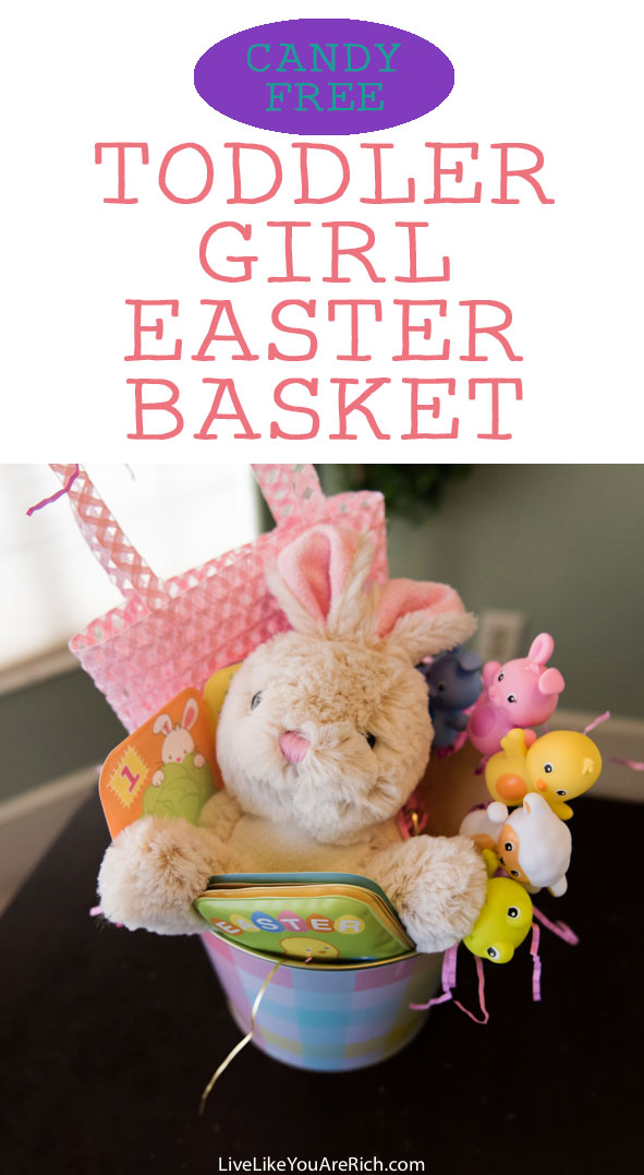 Candy Free Easter Basket for a Toddler Girl