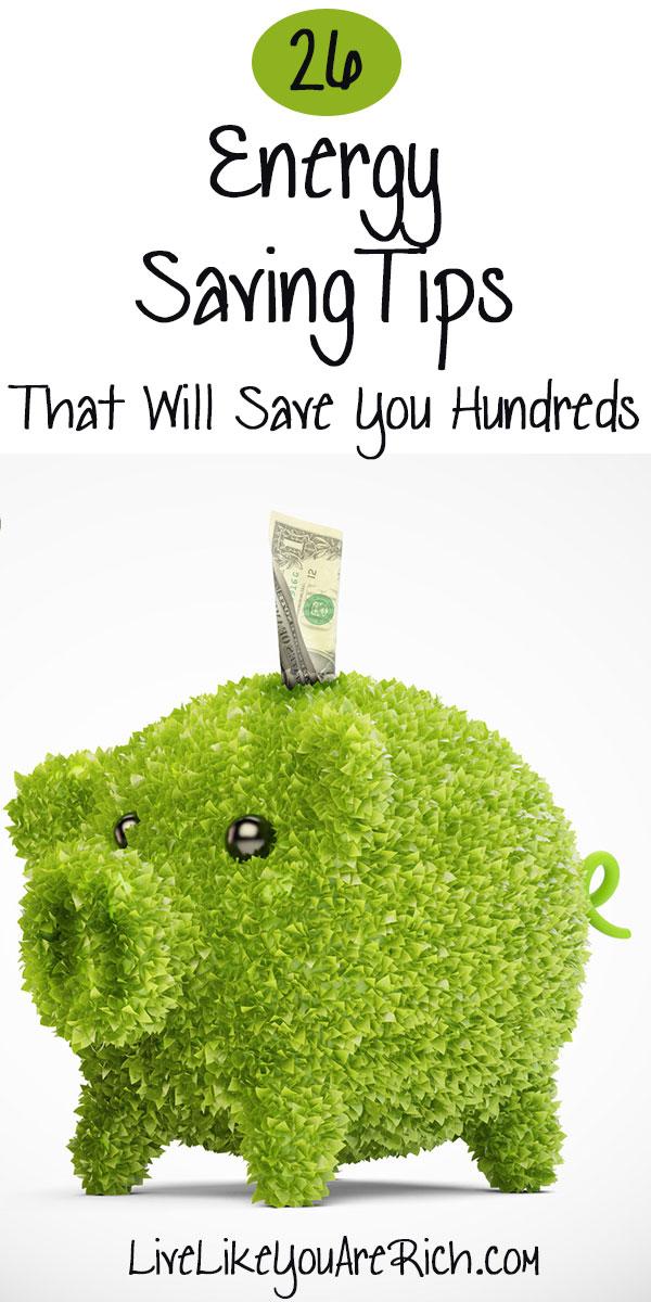 26 Energy Saving Tips