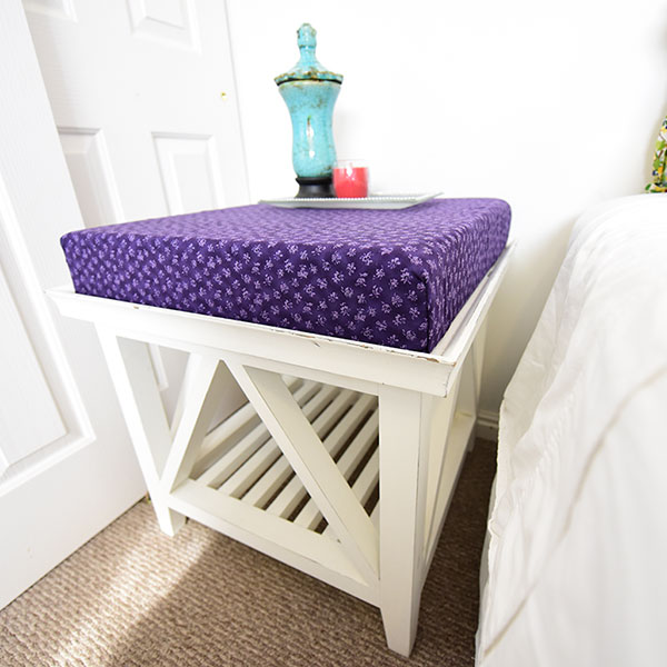 DIY Memory Foam Side Table Toppers