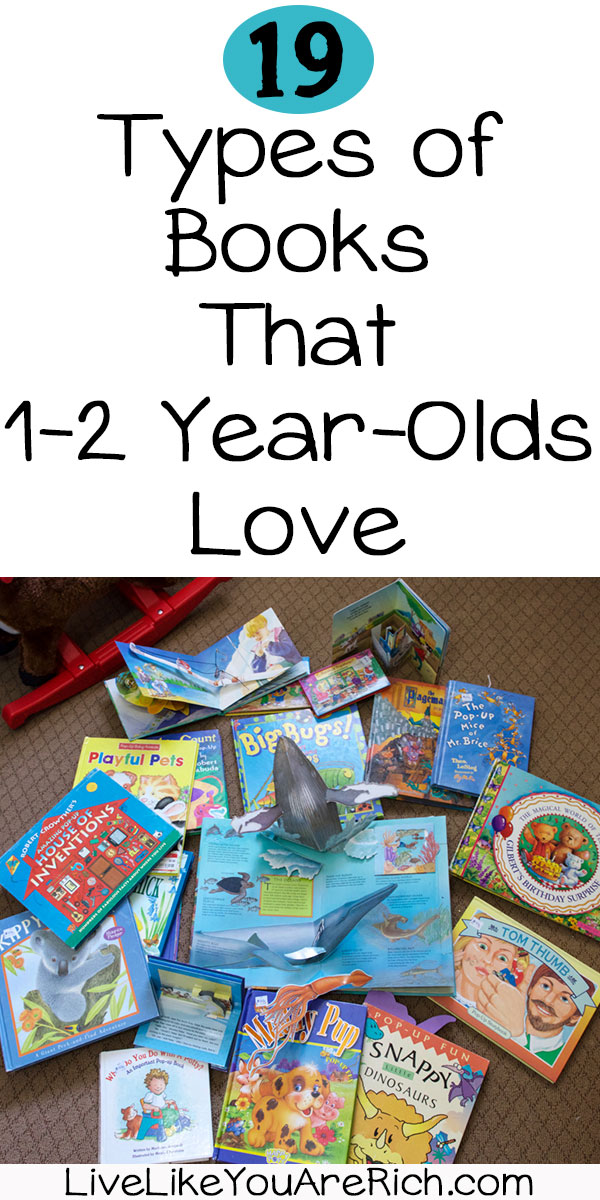 Types of Books That One to Two Year Olds Love