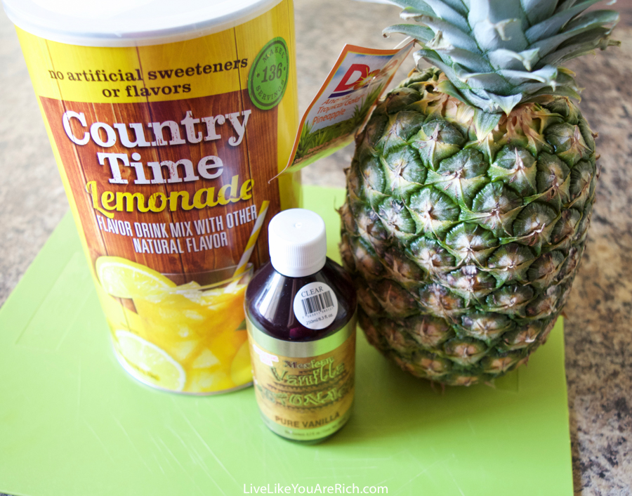 Pineapple Lemonade Slush