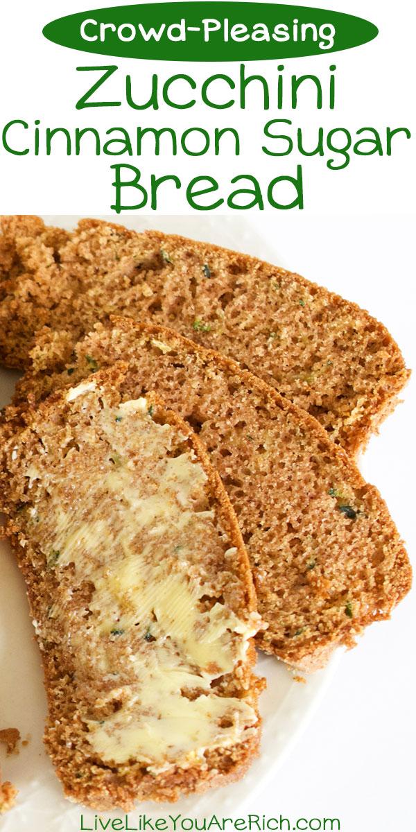 Zucchini Cinnamon Sugar Bread Recipe