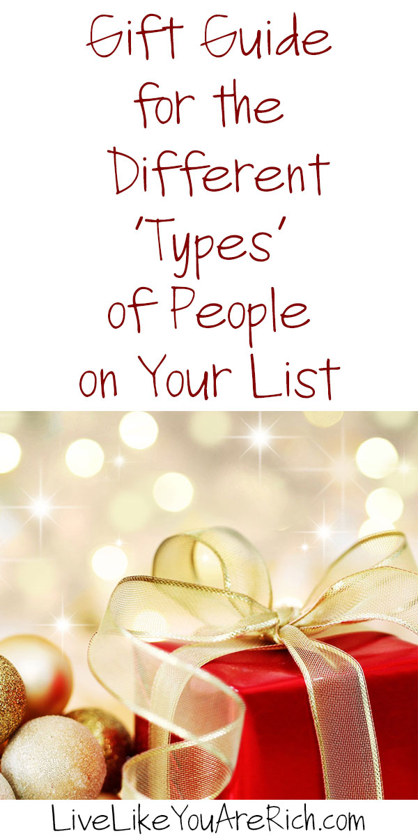 Gift Guide for Different 'Types' of People on Your List