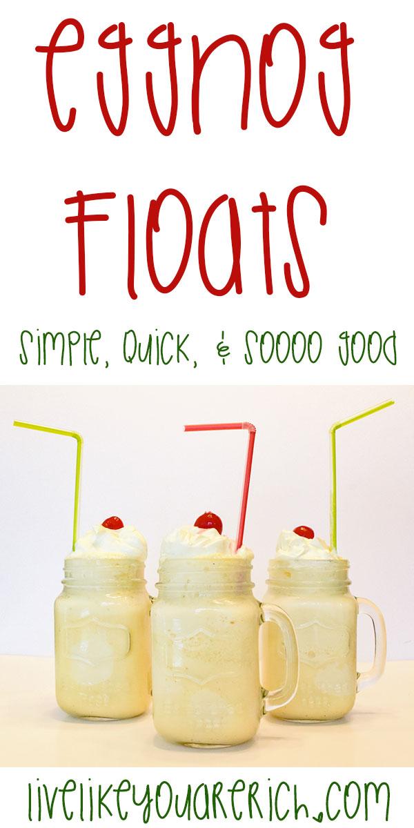 Eggnog Floats - Simple, Quick & Sooo Good