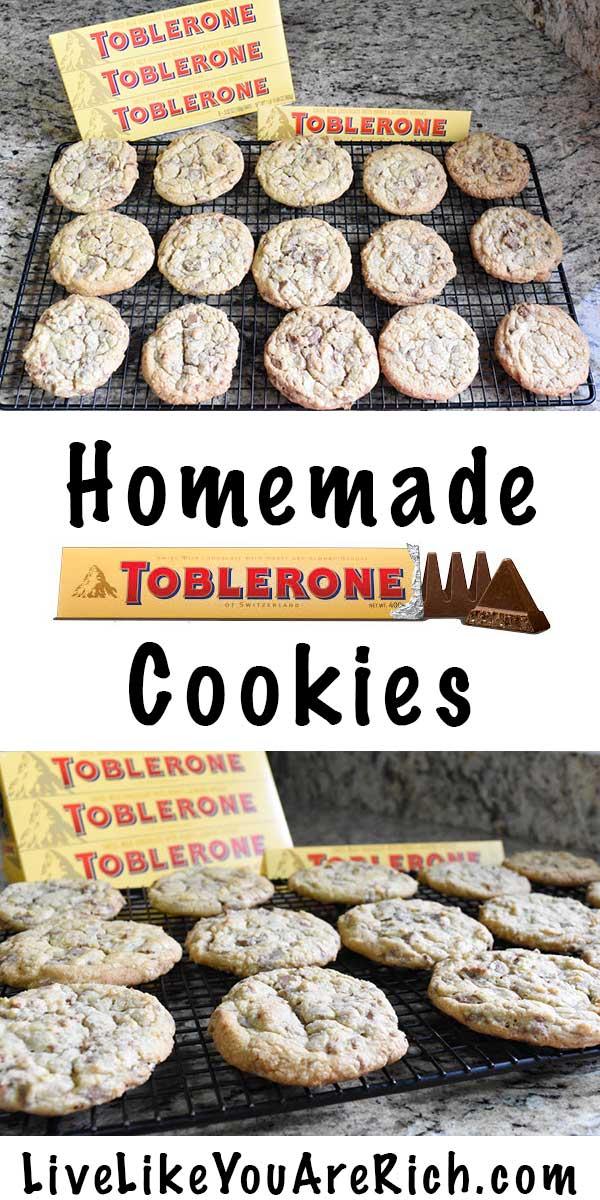 Homemade Toblerone Cookies