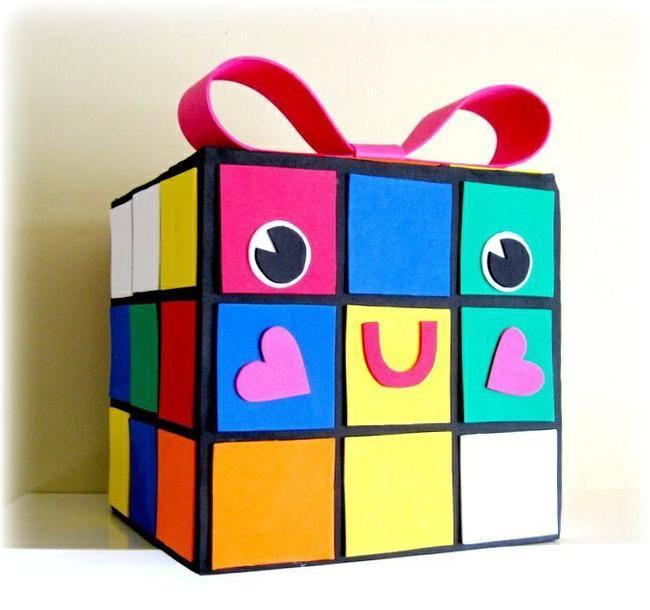 rubie cube valentine box